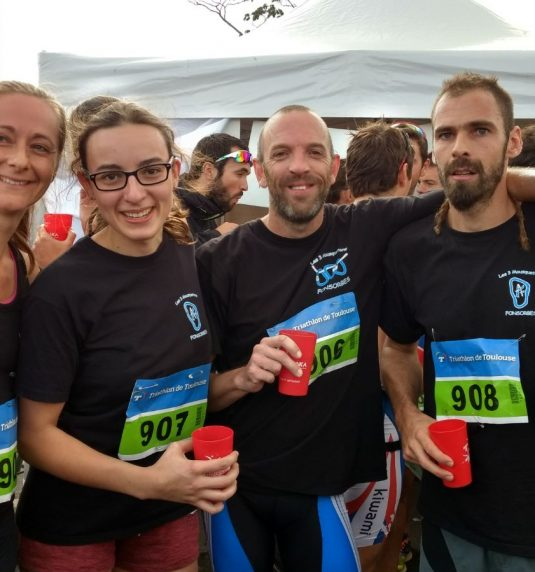 Les 3 mousquetons présents au triathlon de Toulouse